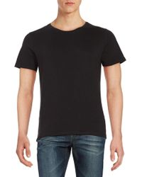 SELECTED - Cotton Tee - Lyst
