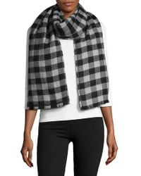 Lord & Taylor - Reversible Blanket Wrap Scarf - Lyst