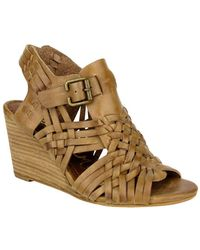 Naughty Monkey - Dually Noted Leather Wedge Sandals - Lyst
