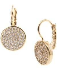 Anne Klein Goldtone And Crystal Drop Earrings