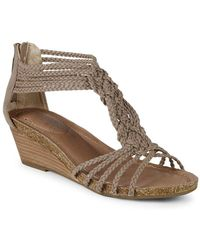 Me Too - Studded Leather Gladiator Sandals - Lyst