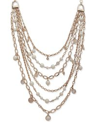 Ralph Lauren - Faux Pearl Multi-strand Necklace - Lyst