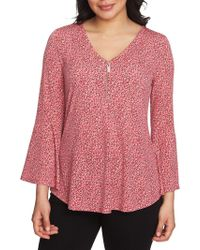Chaus - Graceful Blooms Chain Ring Bell-sleeve Top - Lyst
