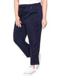 Addition Elle | Plus Plus Tencel Cropped Pants | Lyst