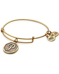 ALEX AND ANI - Initial P Charm Bangle - Lyst