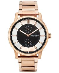 Kenneth Cole - Transparency Multifunction Stainless Steel Bracelet Watch - Lyst