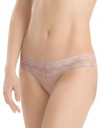 Natori - Bliss Perfection One-size Thong - Lyst