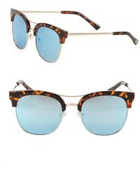Sam Edelman - 50.8mm Clubmaster Sunglasses - Lyst