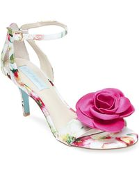 Betsey Johnson - Madi Flower Ankle Strap Dress Sandals - Lyst