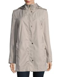 Ivanka Trump - Poplin Stand Collar Raincoat - Lyst