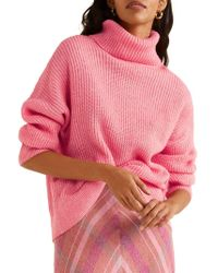 Mango - Dropped-shoulder Ribbed Sweater - Lyst