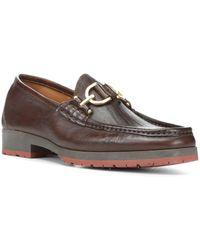 Donald J Pliner - Lelio Leather Bit Loafers - Lyst