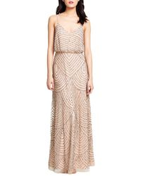 Adrianna Papell - Sequined Blouson Gown - Lyst