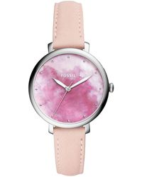 Fossil - Jacqueline Leather-strap Watch - Lyst