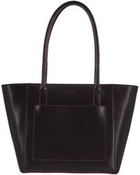 Lodis - Audrey Under Lock And Key Rfid Vicky Medium Leather Tote - Lyst