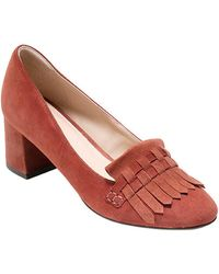 Cole Haan - Mabel Tassel Suede Court Shoes - Lyst