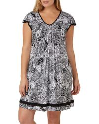 Ellen Tracy - Plus Yours To Love Short Sleeve Chemise - Lyst