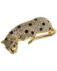 Kenneth Jay Lane - Crystal Leopard Pin - Lyst
