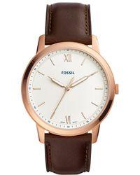 Fossil - The Minimalist Three-hand Java Leather Watch - Lyst