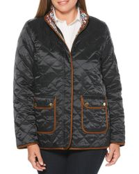 Rafaella - Quilted Ditsy Floral Reversible Jacket - Lyst