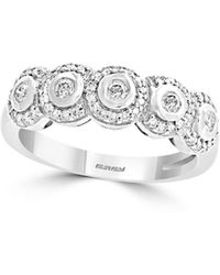Effy - Pave Classica 14k White Gold & Diamond Band Ring - Lyst