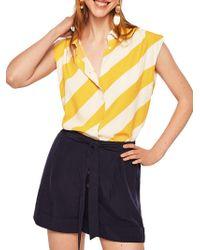 Mango - Flowy Stripe Blouse - Lyst