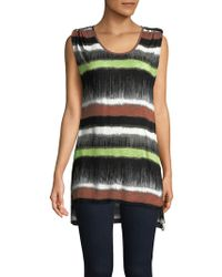 Jones New York - Multicolored Striped Hi-lo Top - Lyst