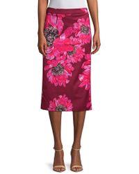 Trina Turk - Casa Mexico Yucatan Floral Midi Skirt - Lyst