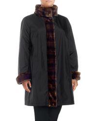 Gallery - Plus Faux Fur Walker Coat - Lyst
