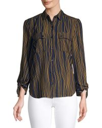 Jones New York - Tie-sleeve Button-down Shirt - Lyst