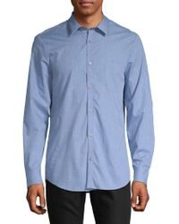 Calvin Klein - Heathered Button-down Shirt - Lyst