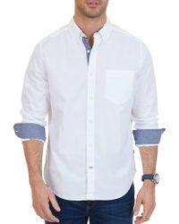 Nautica - Stretch Cotton Shirt - Lyst