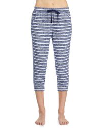 Kensie - Stripe Cropped Pyjama Trousers - Lyst