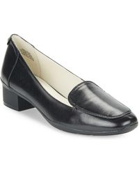 Anne Klein - Daneen Leather Loafers - Lyst