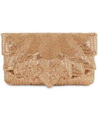 La Regale - Beaded Envelope Clutch - Lyst
