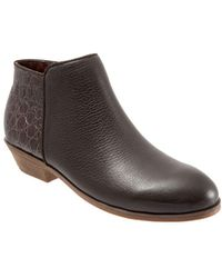 Softwalk - Rocklin Embossed Leather Booties - Lyst