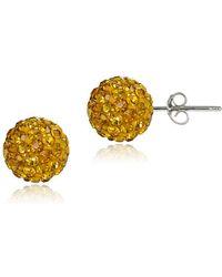 Lord & Taylor - Sterling Silver Fireball Stud Earrings - Lyst