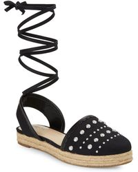 Isaac Mizrahi New York - Hilda Lace-up Espadrille Sandals - Lyst