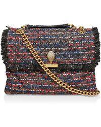 Kurt Geiger Large Kensington Tweed Shoulder Bag