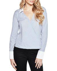 Bardot - Frill Back Stripe Shirt - Lyst
