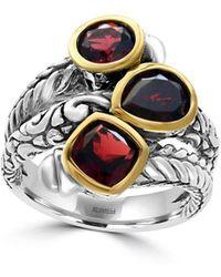 Effy - 18k Yellow Gold, Semi-precious Gemstone, And Sterling Silver Ring - Lyst