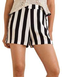 Mango - Printed Flowy Shorts - Lyst