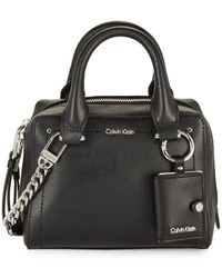 Calvin Klein - Crossbody Satchel Leather Bag - Lyst