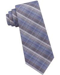 CALVIN KLEIN 205W39NYC - Stitched Plaid Silk And Cotton Tie - Lyst
