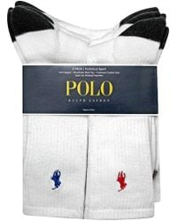 Polo Ralph Lauren - Heel Toe And Arch Support Crew Socks Pack - Lyst