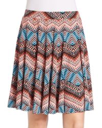 3a636dc09703 Lord + Taylor - Graphic Zigzag Flared Skirt - Lyst