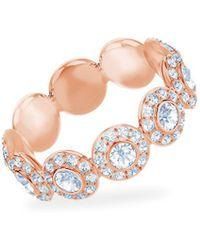 Swarovski - Angelic Rose-goldplated Ring - Lyst