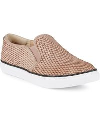 Botkier - Harper Embossed Snake Print Slip-on Trainer - Lyst