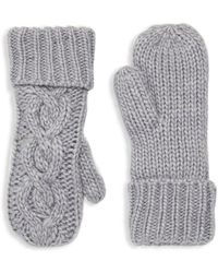 Rella - Cable-knit Cuffed Mittens - Lyst