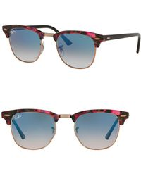 Ray-Ban - 51mm Clubmaster Square Sunglasses - Lyst
